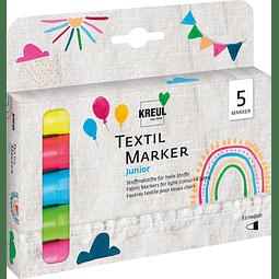 KREUL Textile Marker medium Junior Juego de 5