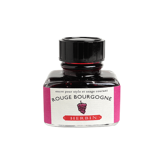 D ink bottle 30ml rouge bourgogne