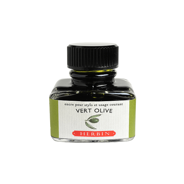 D ink bottle 30ml olive green