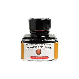 D ink bottle 30ml amber