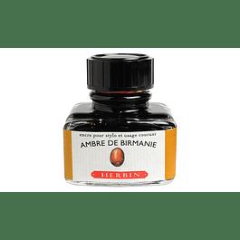 D ink bottle 30ml amber