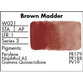 GRUMBACHER COLOR - FINESTWATERCOLOR 14 ML BROWN MADDER
