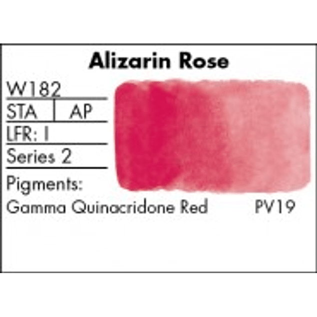 GRUMBACHER COLOR - FINESTWATERCOLOR 14 ML ALIZARIN ROSE (MADDER)