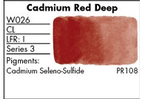 GRUMBACHER- FINESTWATERCOLOR 14 ML CADMIUM RED DEEP