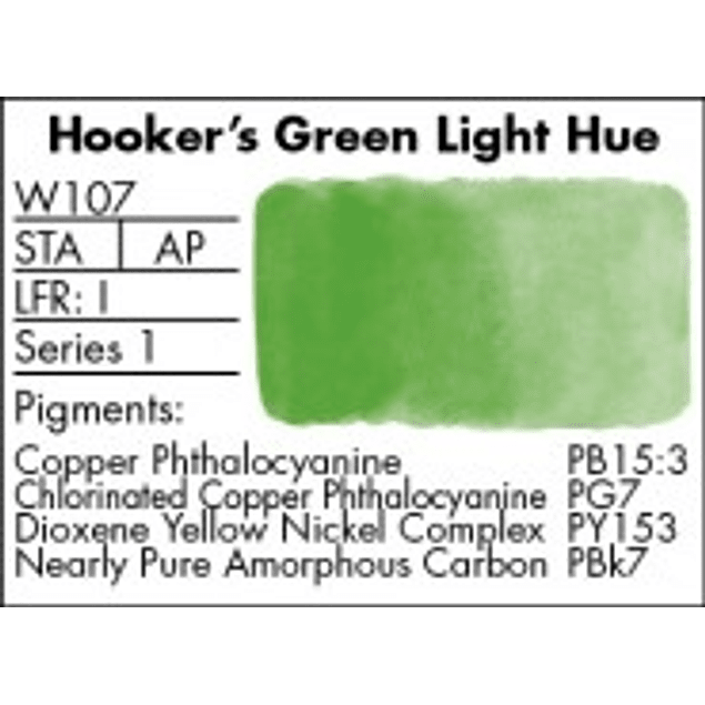 GRUMBACHER COLOR - FINESTWATERCOLOR 14 ML HOOKERS GREEN LIGHT