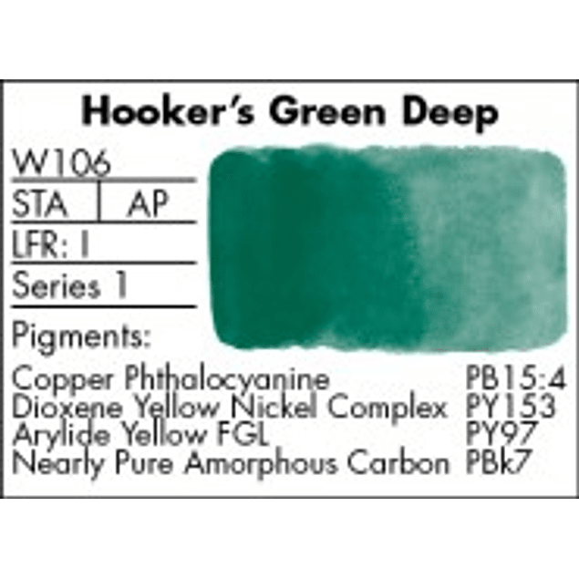 GRUMBACHER COLOR - FINESTWATERCOLOR 14 ML HOOKERS GREEN DEEP