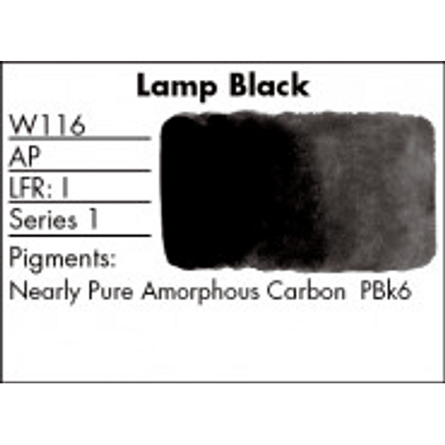 GRUMBACHER COLOR - FINESTWATERCOLOR 14 ML LAMP BLACK