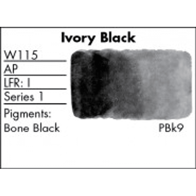 GRUMBACHER COLOR - FINESTWATERCOLOR 14 ML IVORY BLACK