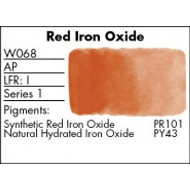 GRUMBACHER COLOR - FINESTWATERCOLOR 14 ML RED IRON OXIDE (ENGLISH RED)