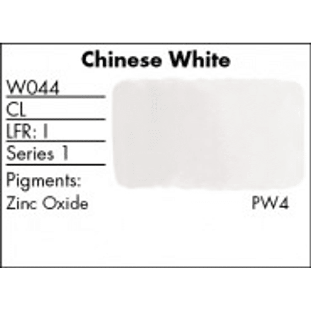 GRUMBACHER COLOR - FINESTWATERCOLOR 14 ML CHINESE WHITE