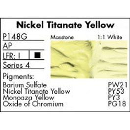 GRUMBACHER COLOR - PRETESTED OIL (37ML) NICKEL TITANATE YELLOW