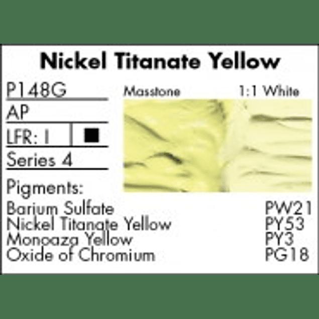 GRUMBACHER COLOR - PRETESTED OIL (37ML) NICKEL TITANATE YELLOW