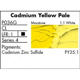GRUMBACHER COLOR - PRETESTED OIL (37ML) CADMIUM YELLOW PALE