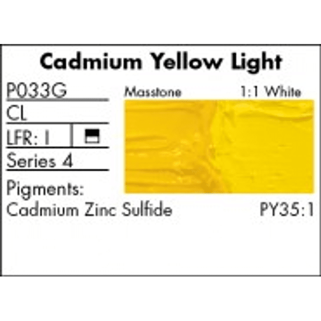 GRUMBACHER COLOR - PRETESTED OIL (37ML) CADMIUM YELLOW LIGHT