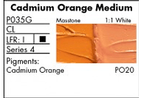 GRUMBACHER COLOR - PRETESTED OIL (37ML) CADMIUM ORANGE MEDIUM