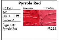 GRUMBACHER- PRETESTED OIL (37ML) PYRROLE RED