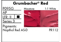 GRUMBACHER- PRETESTED OIL (37ML) GRUMBACHER RED (NAPTHOL)
