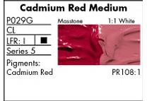 GRUMBACHER COLOR - PRETESTED OIL (37ML) CADMIUM RED MEDIUM