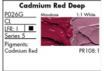 GRUMBACHER COLOR - PRETESTED OIL (37ML) CADMIUM RED DEEP