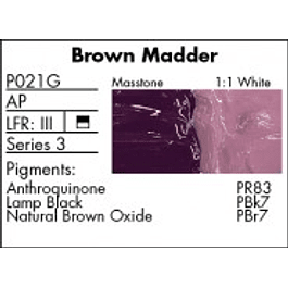 GRUMBACHER COLOR - PRETESTED OIL (37ML) BROWN MADDER