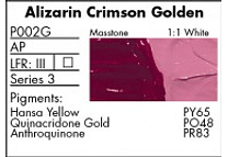 GRUMBACHER COLOR - PRETESTED OIL (37ML) ALIZARIN CRIMSON GOLDEN