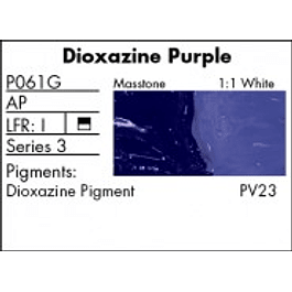 GRUMBACHER COLOR - PRETESTED OIL (37ML) DIOXAZINE PURPLE