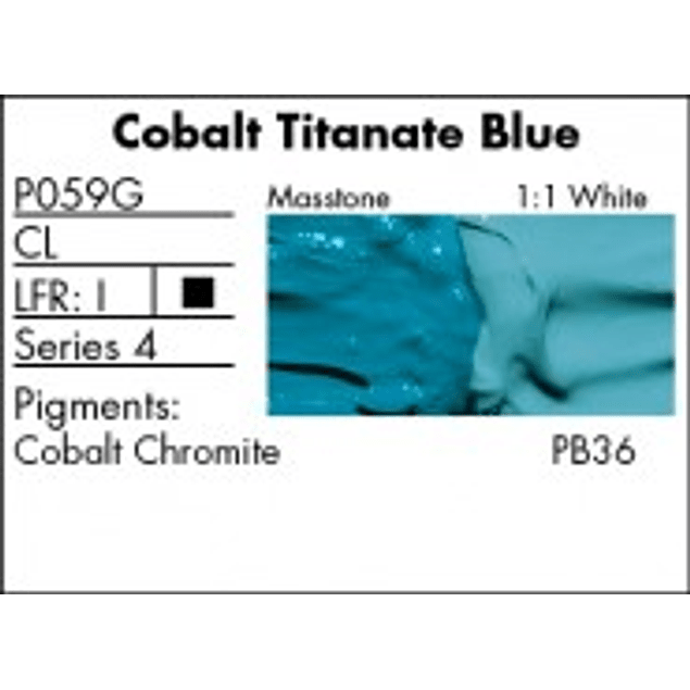 GRUMBACHER COLOR - PRETESTED OIL (37ML) COBALT TITANATE BLUE