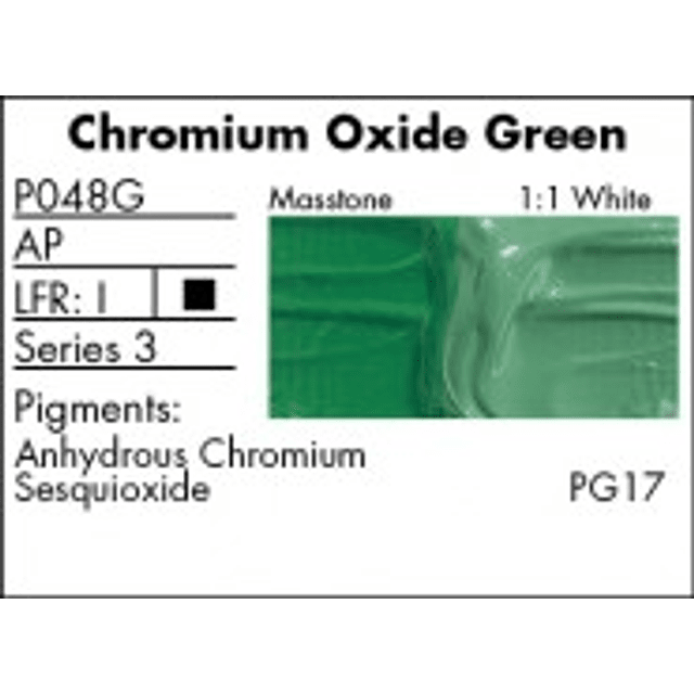 GRUMBACHER COLOR - PRETESTED OIL (37ML) CHROME OXIDE GREEN (OPAQUE)