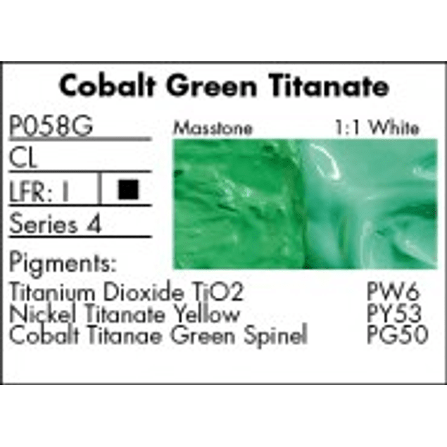 GRUMBACHER COLOR - PRETESTED OIL (37ML) COBALT TITANATE GREEN