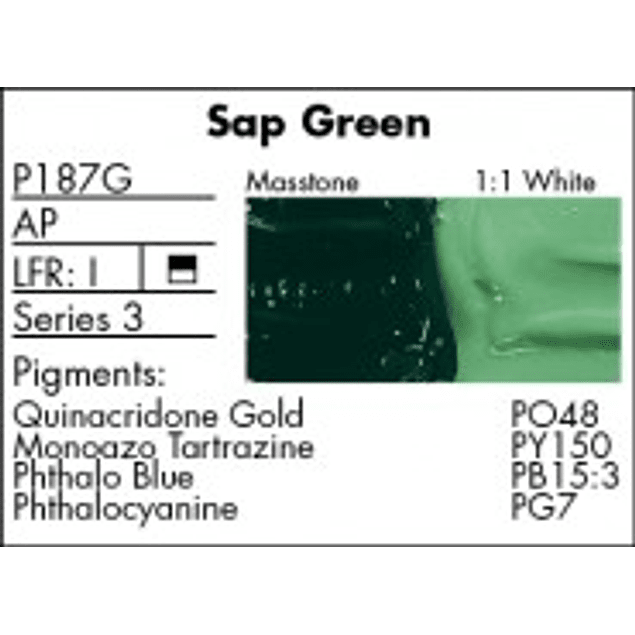 GRUMBACHER COLOR - PRETESTED OIL (37ML) SAP GREEN