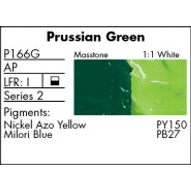 GRUMBACHER COLOR - PRETESTED OIL (37ML) PRUSSIAN GREEN