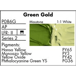 GRUMBACHER COLOR - PRETESTED OIL (37ML) GREEN GOLD HUE