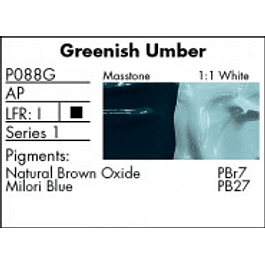 GRUMBACHER COLOR - PRETESTED OIL (37ML) GREENISH UMBER