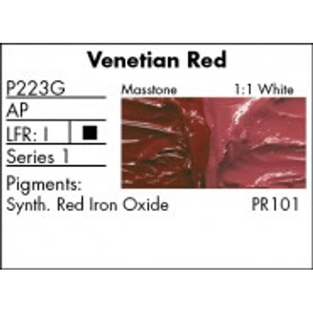 GRUMBACHER COLOR - PRETESTED OIL (37ML) VENETIAN RED