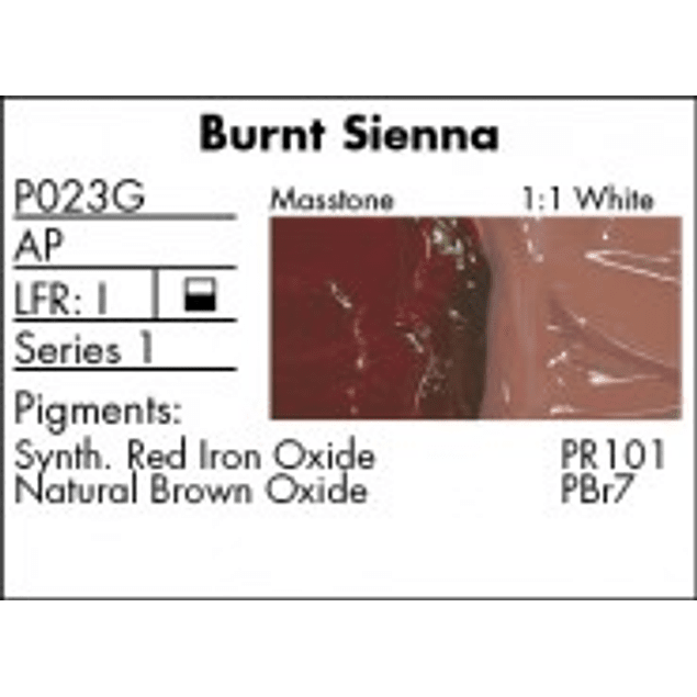 GRUMBACHER COLOR - PRETESTED OIL (37ML) BURNT SIENNA