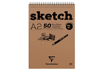 Clairefontaine Sketch pad 90g 50 hojas A2