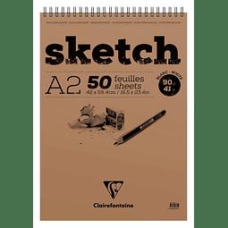 """Bloc dibujo """"Sketch"""" anillado 50 hojas - (3 tamaños)"""
