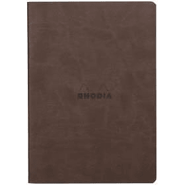 Rhodia Sewn Spine Rhodiarama A5 color Chocolate, Líneas