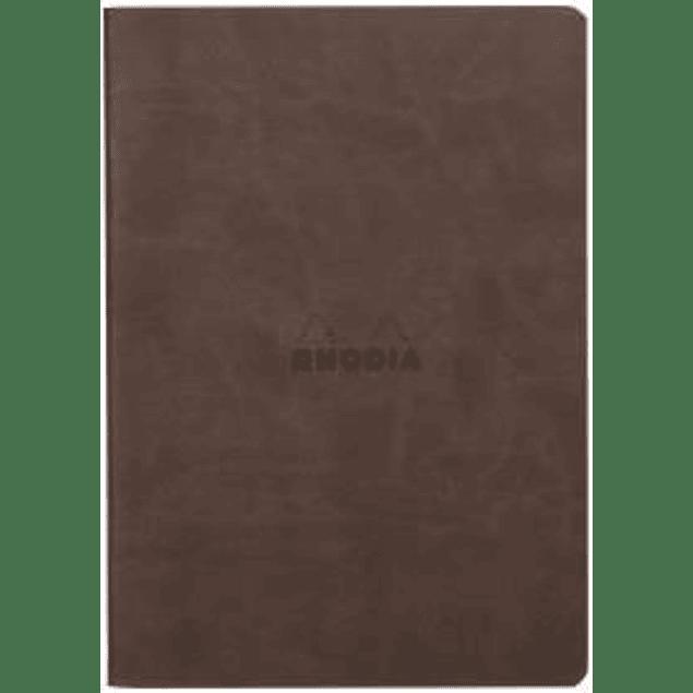Rhodia Sewn Spine Rhodiarama A5 color Chocolate, Líneas