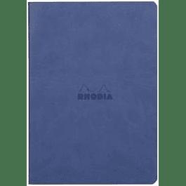 Rhodia Sewn Spine Rhodiarama A5 color Safiro, Líneas