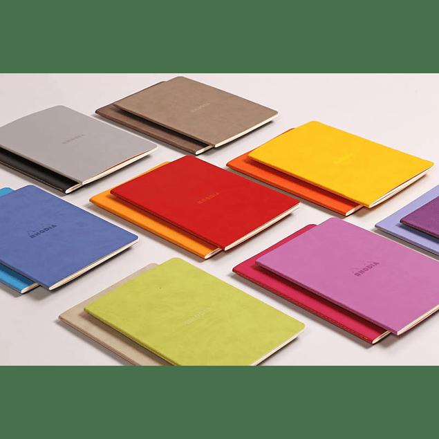 Cuaderno A5 con lomo cosido - Morado