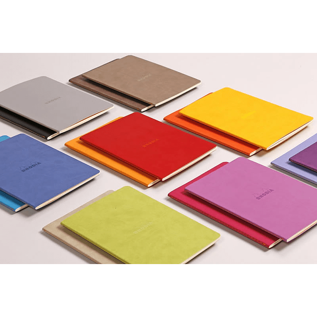 Cuaderno A5 con lomo cosido - Lila