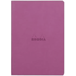 Rhodia Sewn Spine Rhodiarama A5 color Lila, Líneas