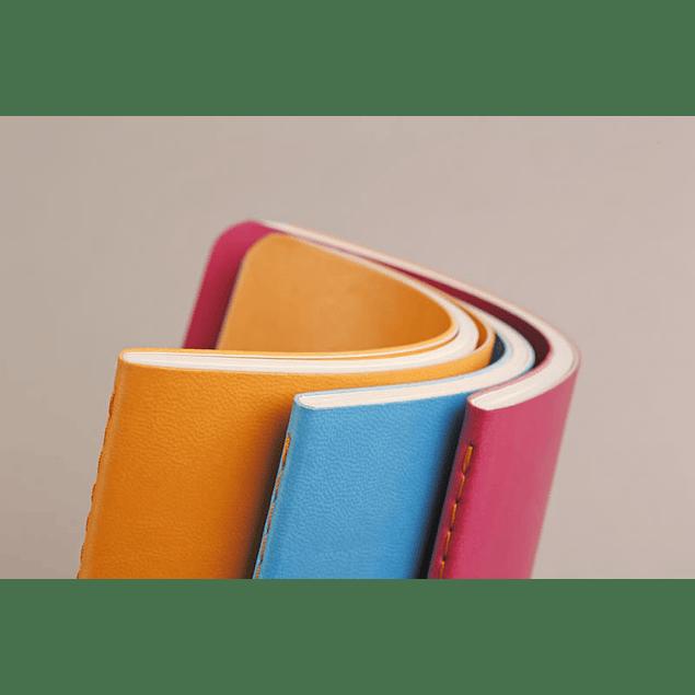 Rhodia Sewn Spine Rhodiarama A5 color Mandarina, Líneas
