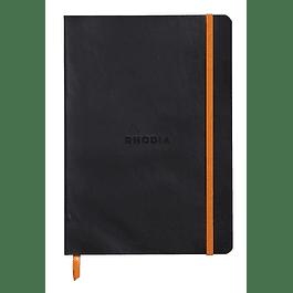Rhodiarama Soft Cover A5, Negro