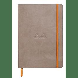 Rhodiarama Soft Cover A5, Gris Pardo, Líneas