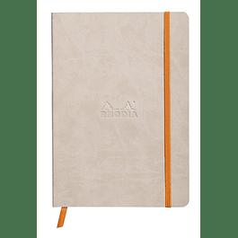 Rhodiarama Soft Cover A5, Beige, Líneas