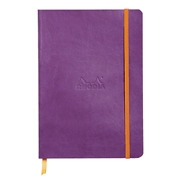 Rhodiarama Soft Cover A5, Purple, Líneas