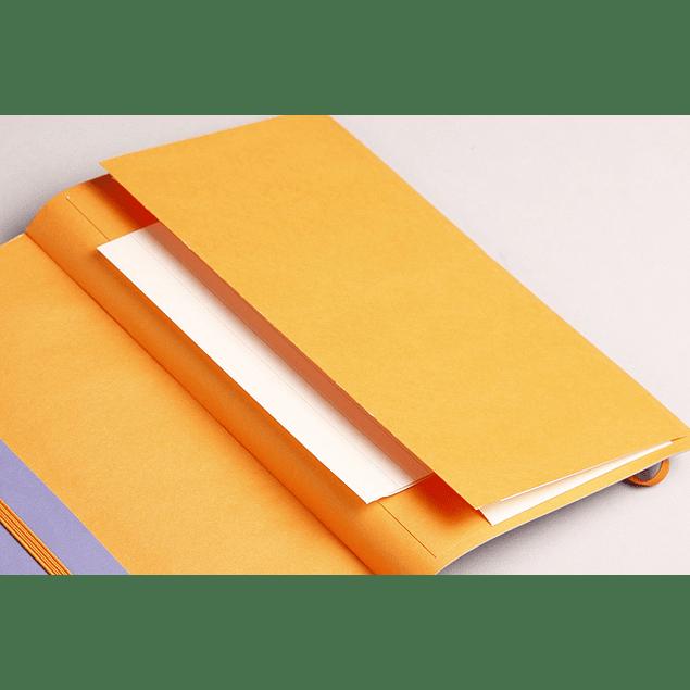 Rhodiarama Soft Cover A5, Tangerine, Líneas