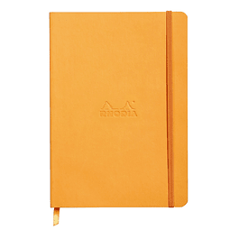 Rhodiarama Soft Cover A5, Orange, Líneas